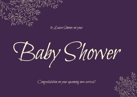 baby shower cards A6 template