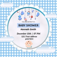 baby shower Instagram Post template