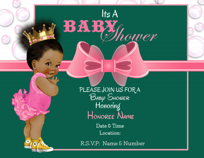 Baby Shower Flyer (Letter pang-US) template