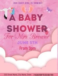 Baby shower Flyer (US Letter) template