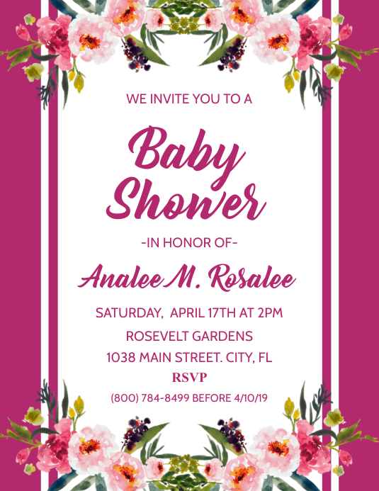 Baby Shower Flyer (US-Letter) template