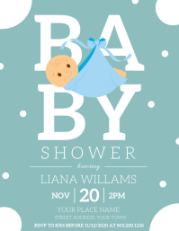 BABY SHOWER Flyer (US Letter) template