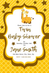 Baby Shower Pinterest-afbeelding template