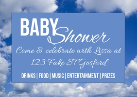 Baby Shower Cartolina template