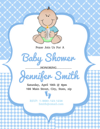Customizable Design Templates for Baby Shower Flyer | PosterMyWall