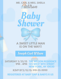 Customizable design templates for baby shower template postermywall baby shower boy pronofoot35fo Gallery