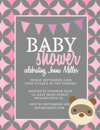 Customizable design templates for baby shower flyer postermywall baby shower pronofoot35fo Gallery
