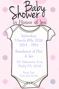 27 540 Customizable Design Templates For Baby Event Postermywall
