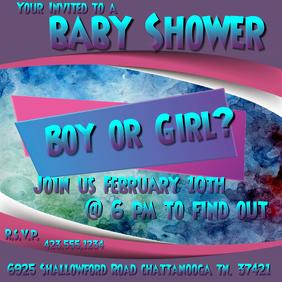 Baby Shower Instagram Post template