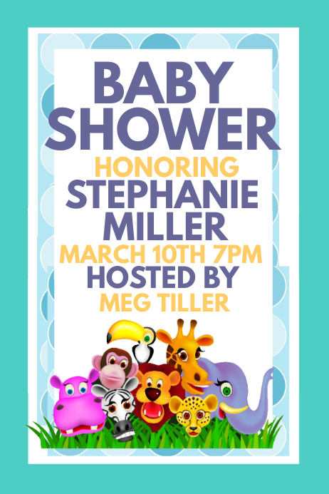Baby Shower 海报 template