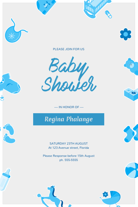 Baby Shower Flyer Template