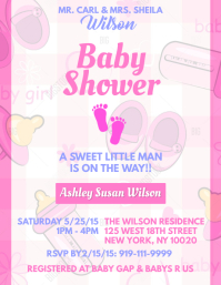 Customizable design templates for baby shower flyer postermywall girl baby shower pronofoot35fo Gallery