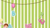 Baby shower Invitation Animated Video Digital Display (16:9) template