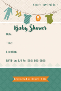 Baby Shower Invitation Announcement Event Expo Baby Sale