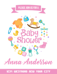 baby shower invitation card FLYER TEMPLATE