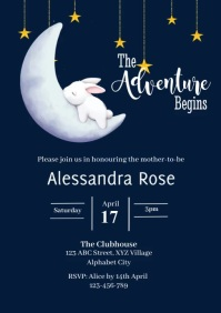 Baby Shower Invitation A4 template