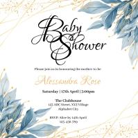 Baby Shower Invitation Quadrado (1:1) template