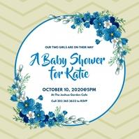 Baby Shower Invitation Instagram Post template