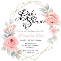 Baby Shower Invitation Square (1:1) template