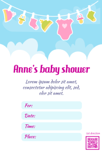 Baby Shower Flyer   PosterMyWall  Baby Shower Flyer Templates Free