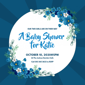 Baby Shower Invitation Instagram-bericht template