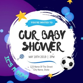 Baby Shower Invitation Square Video