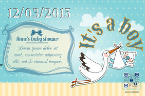 Baby shower flyer - PosterMyWall