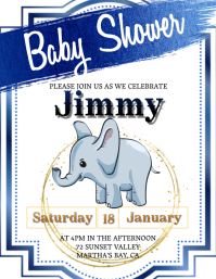 baby shower invitation Template Pamflet (Letter AS)