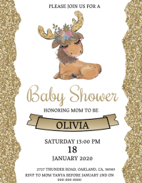 Baby shower Invitation Template Volante (Carta US)