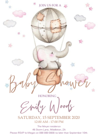 Baby shower Invitation Template A4