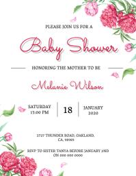 Baby shower invitation Template Flyer (US Letter)