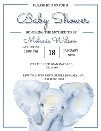 Baby shower invitation Template Flyer (US Letter)