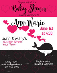Baby Shower Invitation Whale