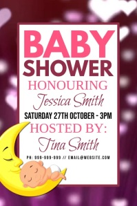 Baby Shower Poster Plakat template