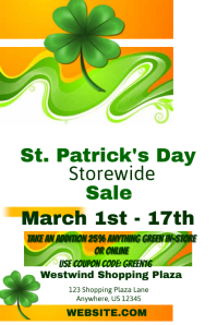 St. Patrick's Day Storewide Sales Event Template