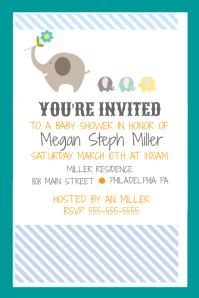 Customizable design templates for baby shower invitation postermywall baby shower filmwisefo Choice Image