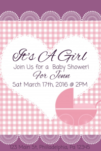 Customizable Design Templates For Baby Shower Flyer PosterMyWall - Baby shower flyer template