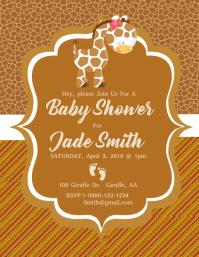 Baby Shower 传单(美国信函) template