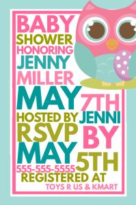Customizable design templates for baby shower invitation postermywall similar design templates stopboris Choice Image