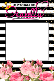 Baby Shower Prop Frame
