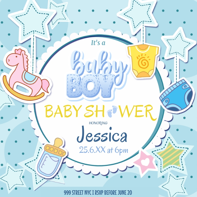 Baby Shower Template Square (1:1)