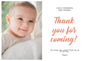 Baby Shower Thank You Online Greeting Card Template
