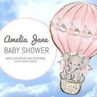 Baby Shower Video Poster template