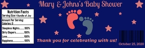 Baby Shower water Label Banner 2' × 6' template