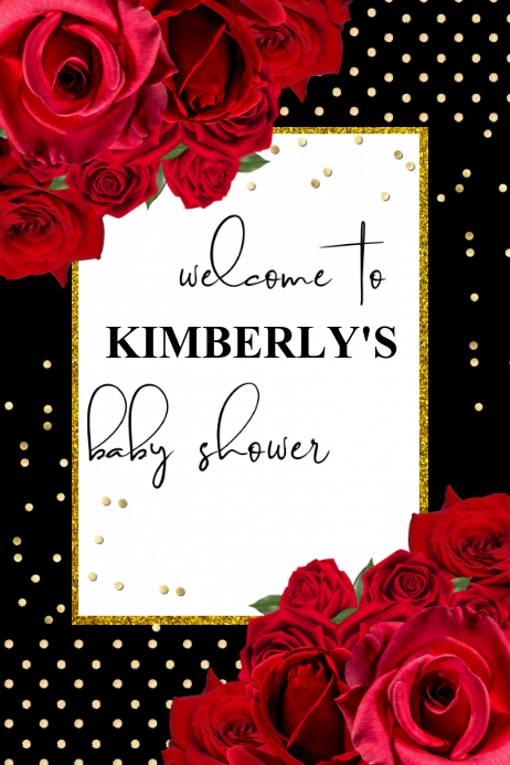 Baby Shower Welcome Sign Template Postermywall