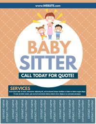 baby sitter Volante (Carta US) template