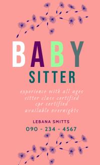 BABY SITTER FLYER Oficio US template