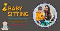 Baby sitting,baby sitter Facebook Shared Image template