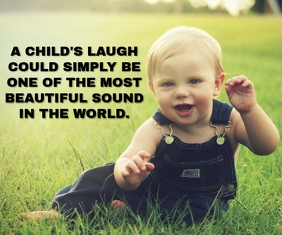 BABY SMILE QUOTE TEMPLATE Large Rectangle