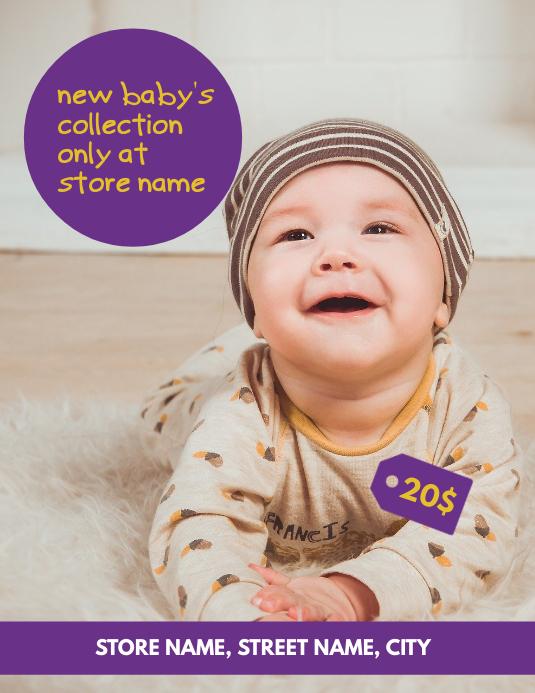 Baby store Volante (Carta US) template